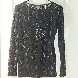 Sheer Lace Andrea Behar for Boston Proper Size Sm